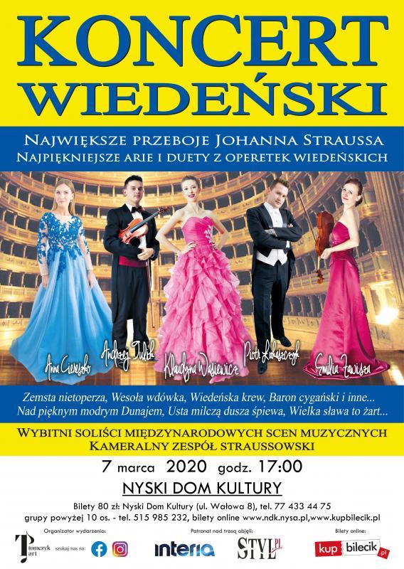 Koncert Wiedeński wNyskim Domu Kultury już 7 marca